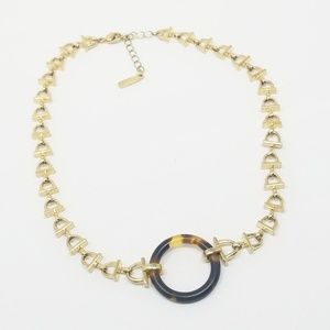 NAPIER faux Tortoise shell Choker Necklace